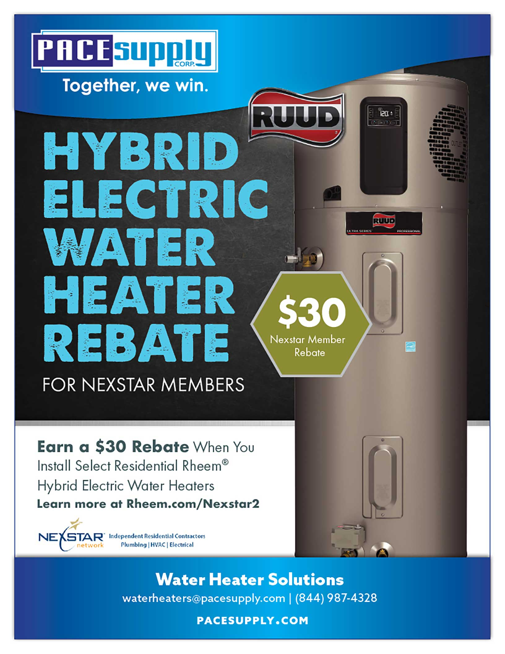 RUUD Hybrid Electric Water Heater Rebate