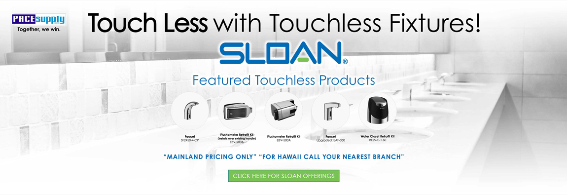 Touch Less with Touchless Fixtures SLOAN Products